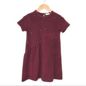 Zara Girls Wool Blend Dress with Beads